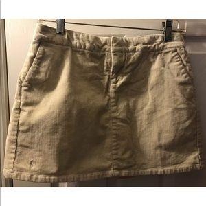 Polo RALPH LAUREN Corduroy Skort Skirt Tan